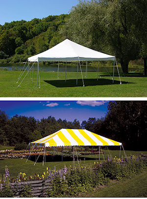 CANOPY STYLE 20 X 20 WHITE 20 X 30 YELLOW.WHITE & 15 x 15 Canopy Package