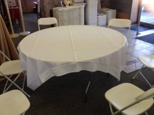 72 X 72 ON 60IN TABLE THIS IS THE PACKAGE STANDARD CLOTH